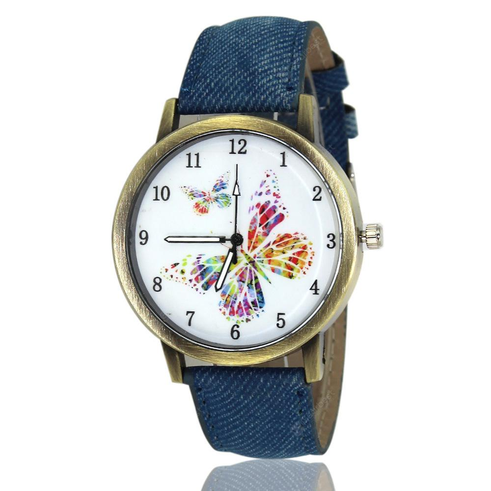 Bursting Fashion Korean Version of Korean Denim Butterfly Watch