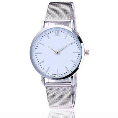 New Rome Minimalist Net with Fashionable Ultra-thin Quartz Watch