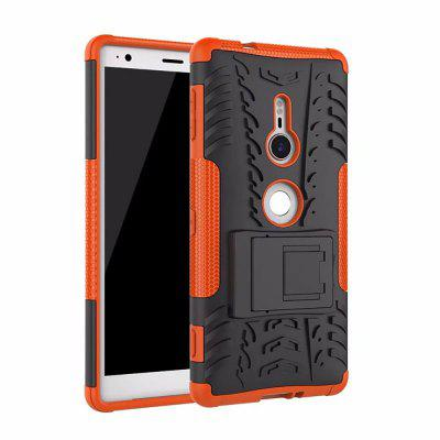 Kickstand Case for Sony Xperia XZ2 TPU + PC Hard Cover elegance tpu pc hybrid back case with kickstand for iphone 7 plus 5 5 inch red