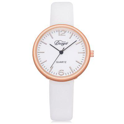DUOYA D227 Women Simple Soft Leather Band Wrist Watch