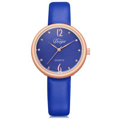 DUOYA D228 Women Casual Soft Leather Band Wrist Watch