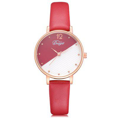 DUOYA D229 Mulheres Two-Tone Analog Quartz Leather Watch