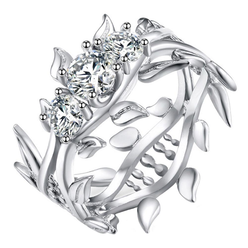Line Flowing Floral Couple Rings
