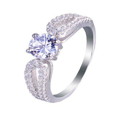 Artificial Diamond Zircon Ring