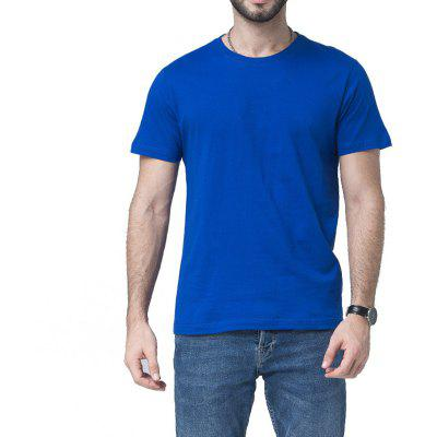 Men Soild Short Sleeve Basic T-shirt