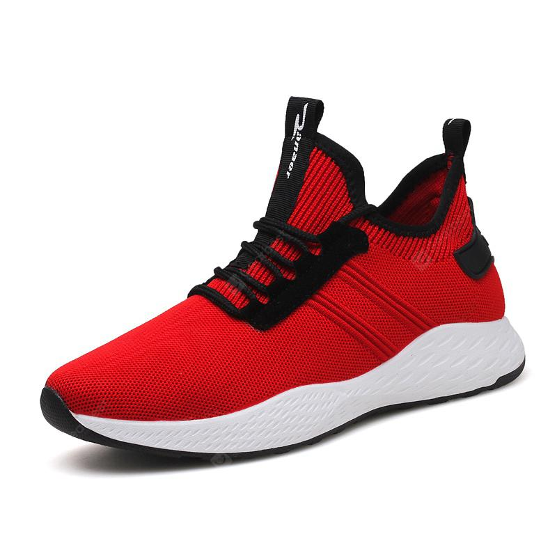 Summer Breathable Mesh Flying Weave Sports Running Shoes Outdoor Casual Sneakers