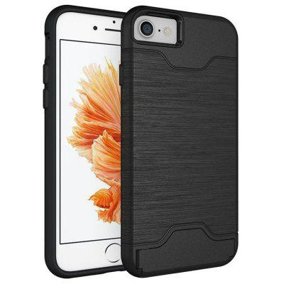 360 Shockproof Business Style Dual Layer Card Slot Holder Hybrid Case Cover with Kickstand for iPhone 6/6s/6 Plus/6s Plus/7/7 Plus/8/8 Plus/X