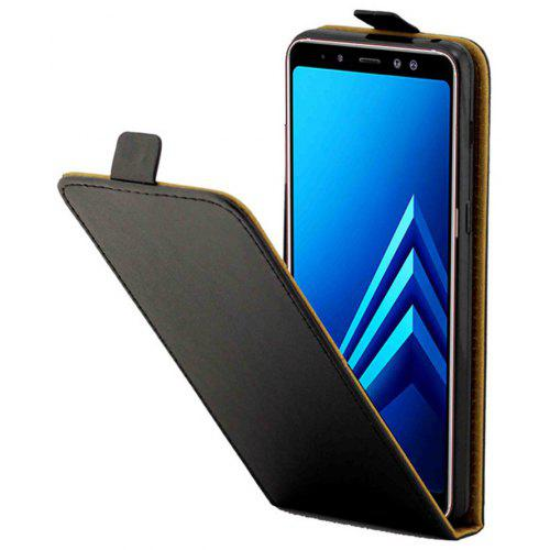 For Samsung Galaxy A8 2018 Case Fashion PU Leather Up Down Flip Mobile Skin Case