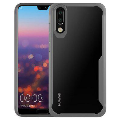 Full Protective Slim TPU and Acrylic Transparent Case for Huawei P20