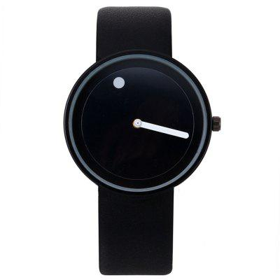 B0972 Fashion Minimalist Creative Leather Quartz Dress Watch