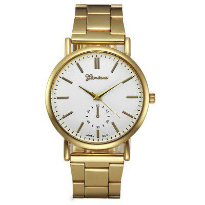 Geneva Montre Luxury Gold Stainless Steel Analog Quartz Watch