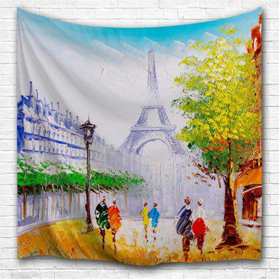 Paris Street View 3D Printing Home Wall Hanging Tapestry for Decoration
