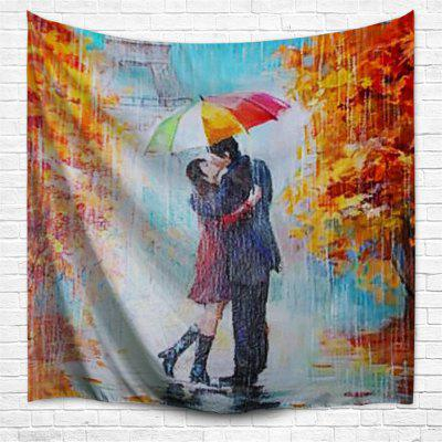 Paris Lovers 3D Printing Home Wall Hanging Tapestry for Decoration