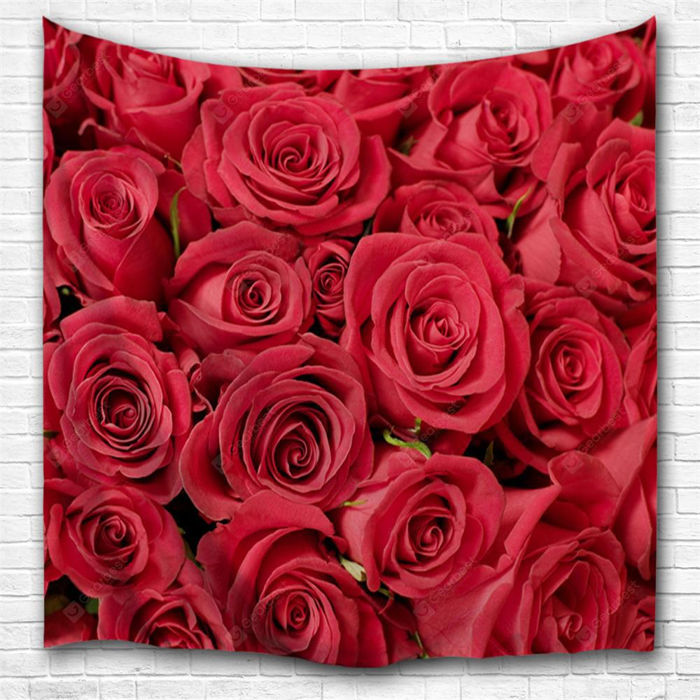 Red Rose 3D Printing Home Wall Hanging Tapestry for Decoration
