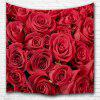 Red Rose 3D Printing Home Wall Hanging Tapestry for Decoration - MULTI-A