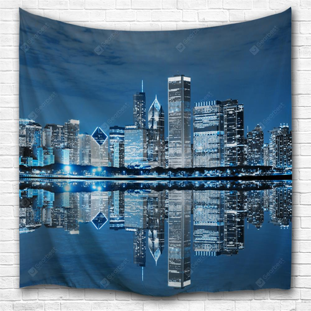 Midnight Chicago 3D Printing Home Wall Hanging Tapestry for Decoration