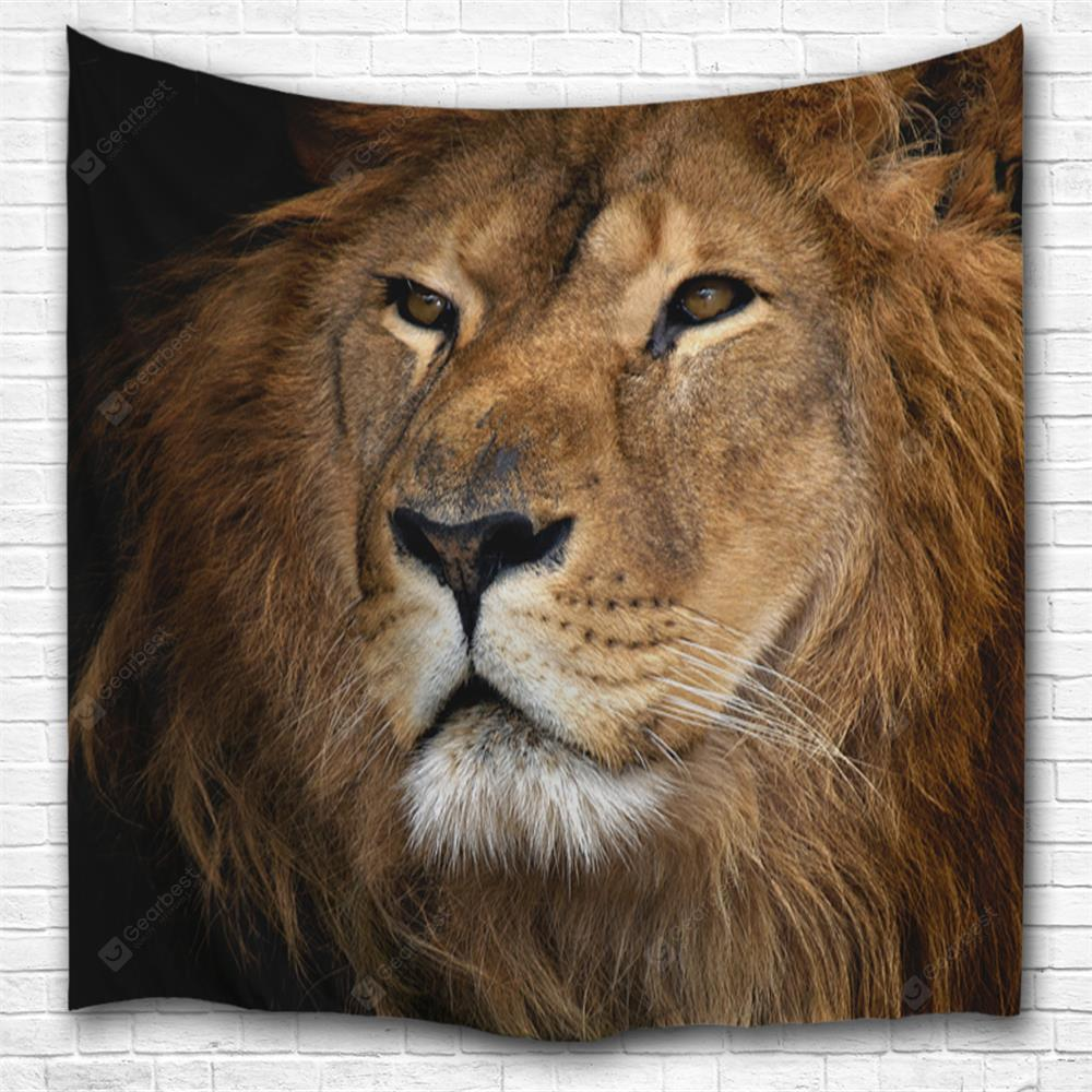 Melancholy Lion 3D Printing Home Wall Hanging Tapestry for Decoration
