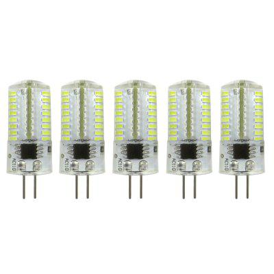 5 Pcs ZHENMING G4 LED Bulbo Bi-Pin 64 SMD 3014 AC 110 V