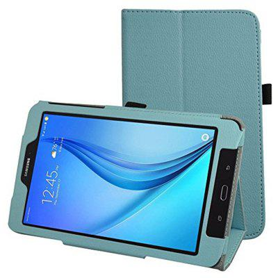 PU Leather Folio 2-folding Stand Cover for Samsung Galaxy T377