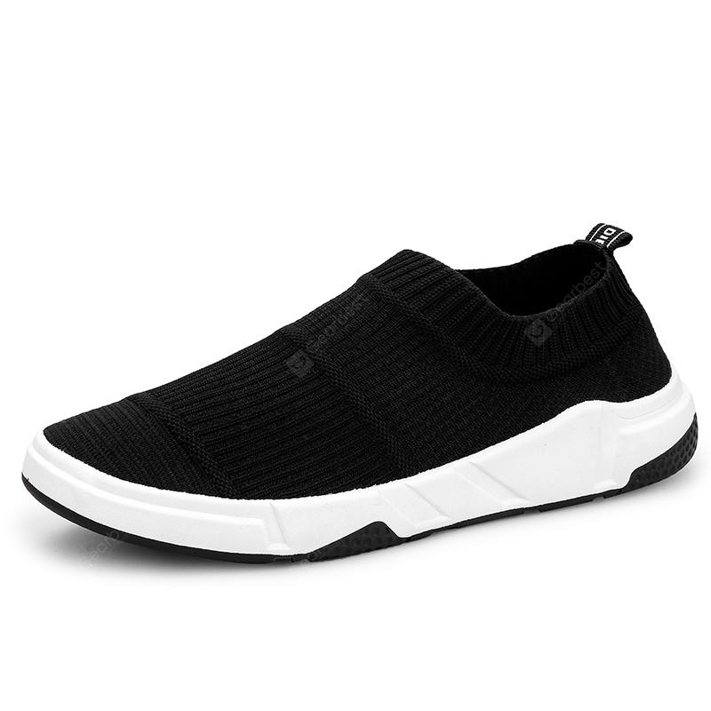ZEACAVA Summer Breathable Flying Woven Men's Leisure Sports Board Shoes