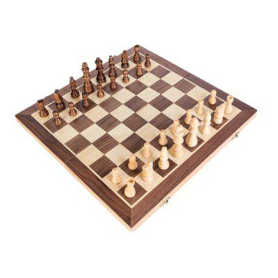 High Grade Wooden Puzzle Chess with Magnetic Recreation Board Game Toys high grade dumu longquan sword wing chun a pair of hard wood knives dulimu very hard wooden knife wooden butterfly swords