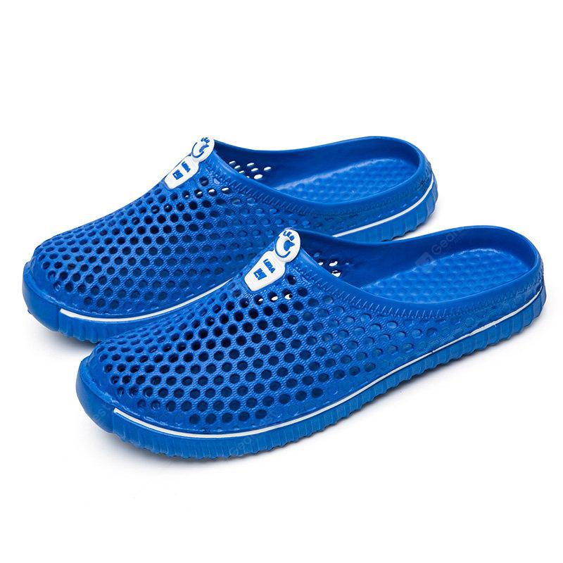 Men Breathable Hollow Out Slip On Flat Beach Slippers Shoes