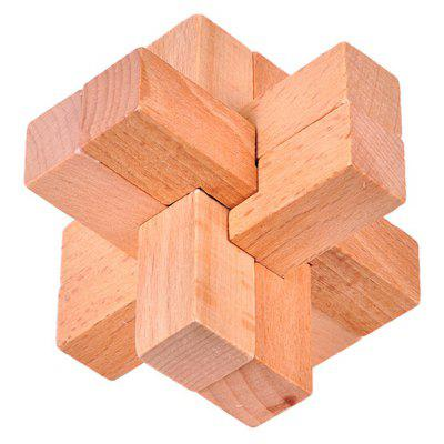 3D Interlocking 6 Pieces Cross Wooden Burr Puzzle