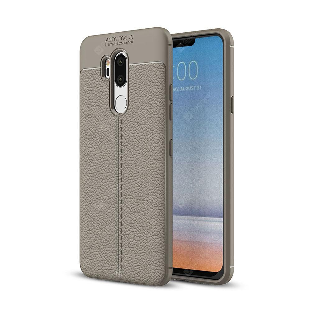 Custodia per LG G7 Litchi Grain Anti Drop TPU Soft Cover