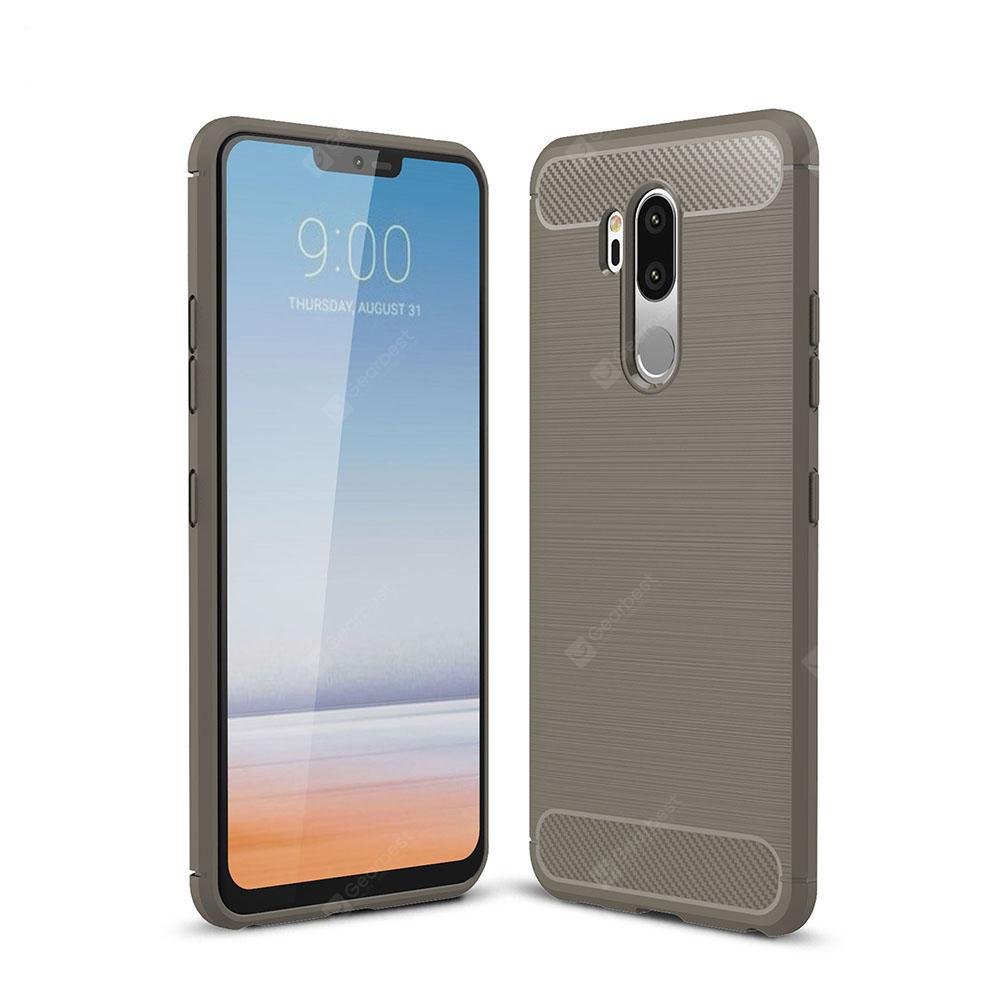 Case for LG G7 Luxury Carbon Fiber TPU Soft Cover