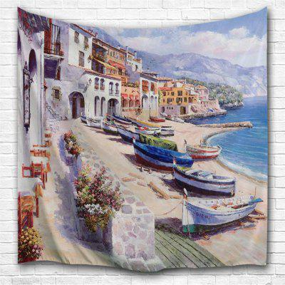 Oil Painting City 1 3D Printing Home Wall Hanging Tapestry for Decoration