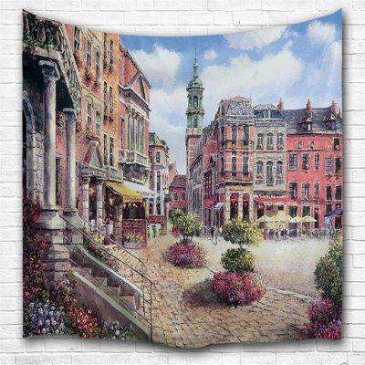 Oil Painting City 2 3D Printing Home Wall Hanging Tapestry for Decoration
