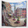 Oil Painting City 2 3D Printing Home Wall Hanging Tapestry for Decoration - MULTI-A