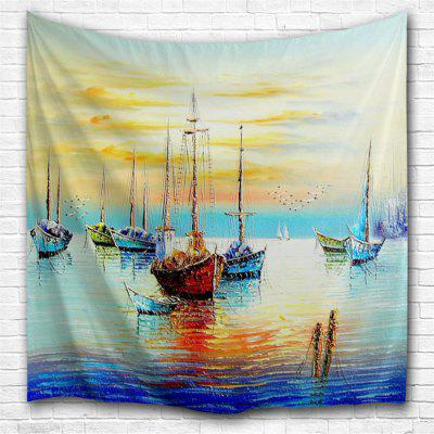 Oil Painting Sailing 3D Printing Home Wall Hanging Tapestry for Decoration