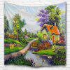 Oil Painting Town2 3D Printing Home Wall Hanging Tapestry for Decoration - MULTI-A