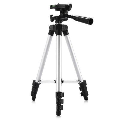 3110 Silver Color Tripod Stand 4-SECTION Lightweight Portable Aluminum Mini Trip