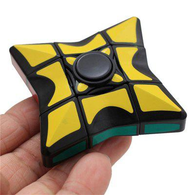 2 in 1 Magic Rotating Cube Hand Finger Spinner Toy