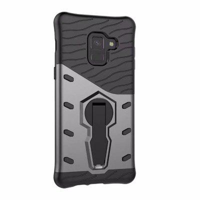for Samsung Galaxy A8 Case Rugged Dual Layer Armor with Kickstand Protective
