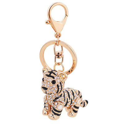 Car Key Rhinestone Exquisite Animal Little Tiger Keychain Charm Bag
