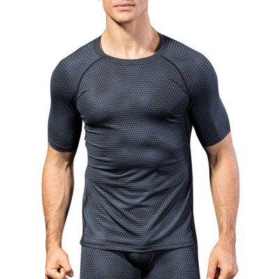 Fitness Tight Compress Sports Quick Dry Soccer Jerseys Man Short T-Shirts