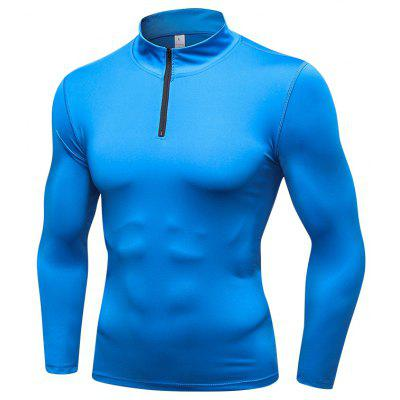 Men'S Sportswear Compression Fitness Tights Running Training Gym T-Shirt
