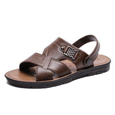 Summer Men Casual Leather Beach Seaside Sandals
