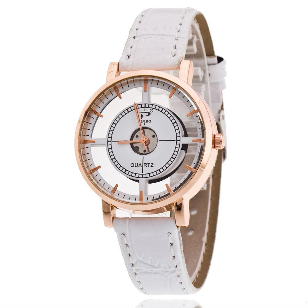 Unique Design Quartz Analog Hollow Style WristWatch