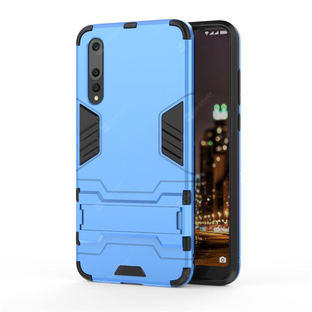 Case for Huawei P20 Pro Shockproof Solid Color Hard PC with Stand Back Cover
