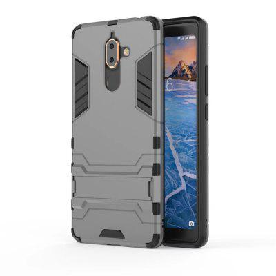 Case for Nokia 7 Plus Shockproof Solid Color Hard PC with Stand Back Cover