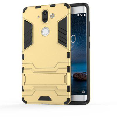 Case for Nokia 8 Sirocco Shockproof Solid Color Hard PC with Stand Back Cover