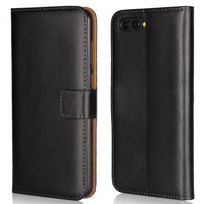 Cover Case for Huawei Honor V10 Flat Two Layers of Cowhide Leather