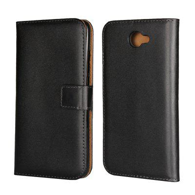 Cover Case for Huawei Y7 Flat Two Layers of Cowhide Leather