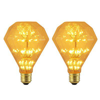 BRELONG 110 E27 47LED Vintage Edison Diamond Light Bulb 220 -240v 2pcs