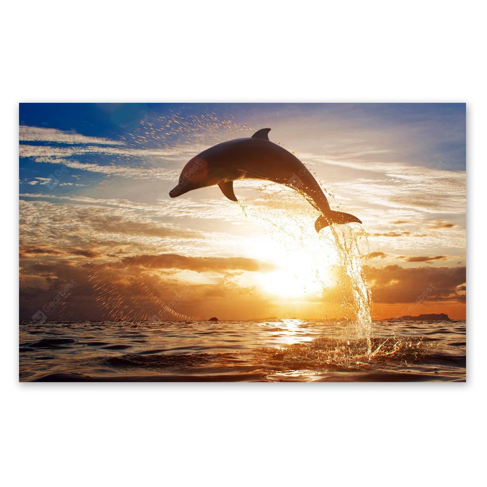 W220 Sea and Dolphin Unframed Art Wall Canvas Prints for Home Decorations