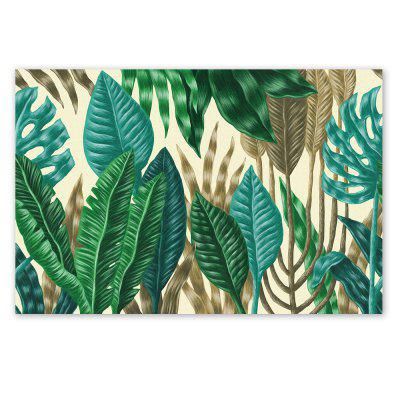 W221 Green Leaves Frameless Art Wall Canvas Prints for Home Decorations green home computing for dummies®